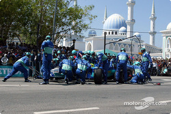 Journée Petronas à Kuantan, Malaisie : simulation d'arrêt au stand
