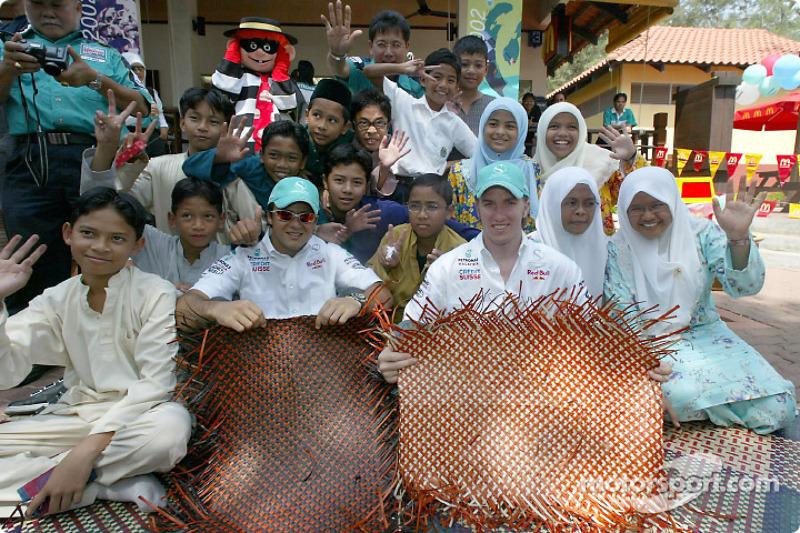 Journée Petronas à Kuantan, Malaisie : Felipe Massa et Nick Heidfeld