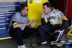 Dave Blaney et son chef d'équipe Ryan Pemberton