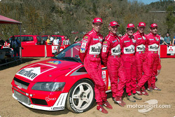 François Delecour and Alister McRae with Carlos Checa