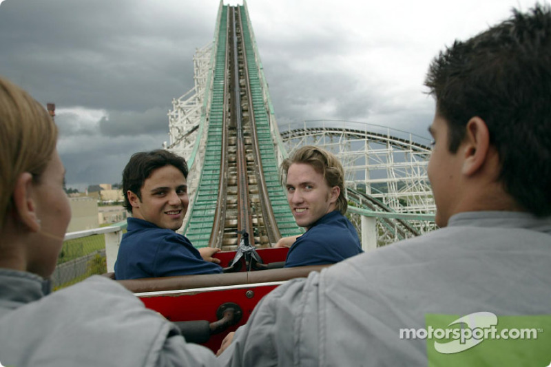 Visit at Hopi Hari´s Park: Felipe Massa and Nick Heidfeld