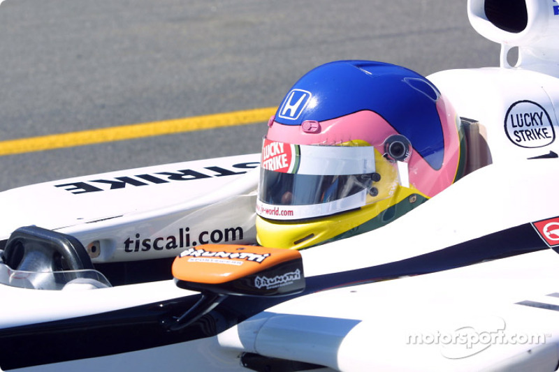 Jacques Villeneuve right before the start