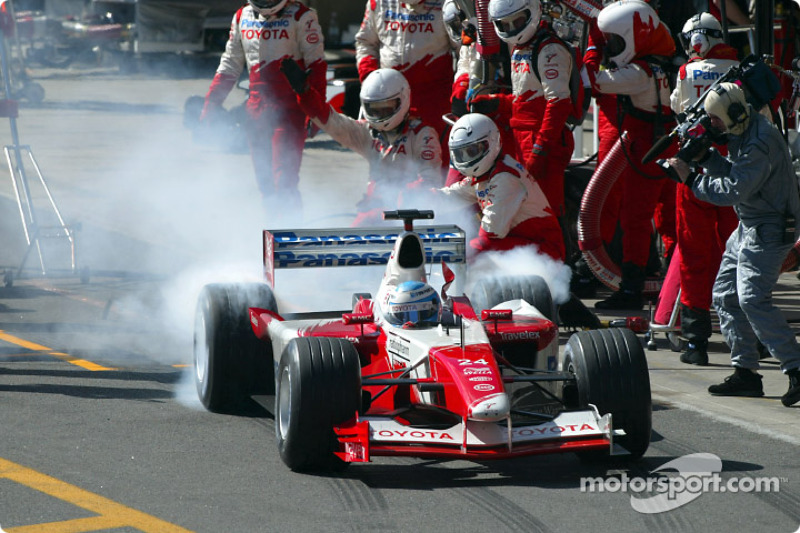Pitstop for Mika Salo