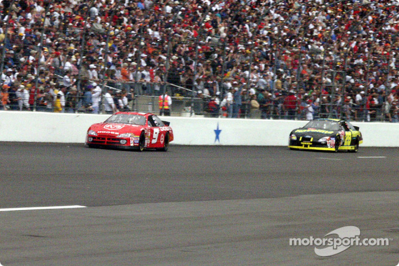 Bill Elliott and Ricky Rudd