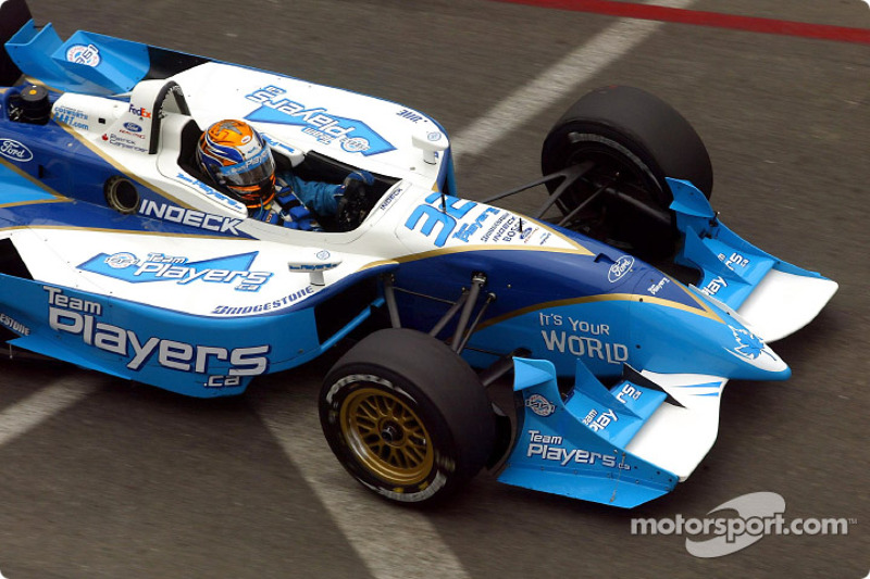 Patrick Carpentier in the warmup lap