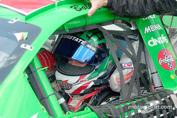 Bobby Labonte gets ready for the race