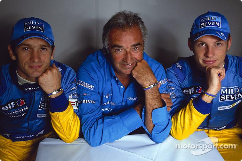 Jarno Trulli, Flavio Briatore et Jenson Button