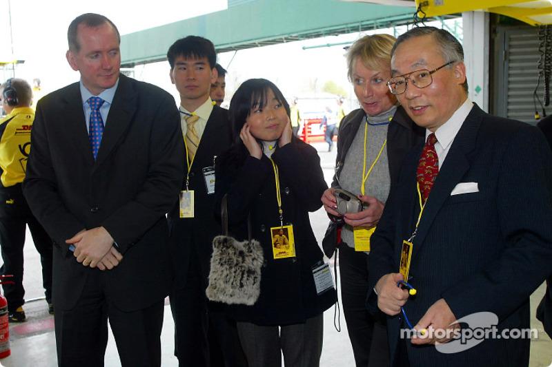 Imperial Highness of Japan princess Akiko and Japan Ambassador in London Mr Orita