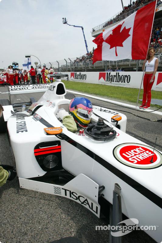 Jacques Villeneuve sur la grille