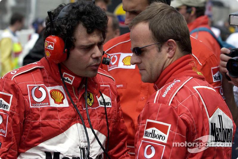 Gabriele Delli Colli y Rubens Barrichello
