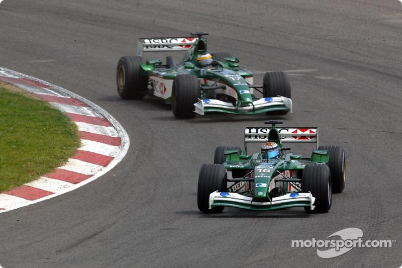 Eddie Irvine and Pedro de la Rosa