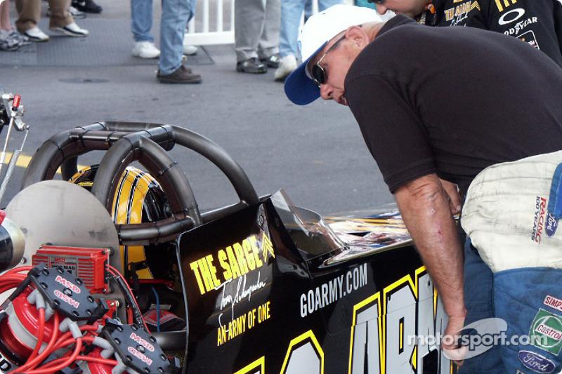 Tony Schumacher in staging lane