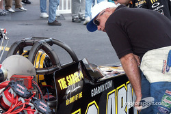 Tony Schumacher in staging lane