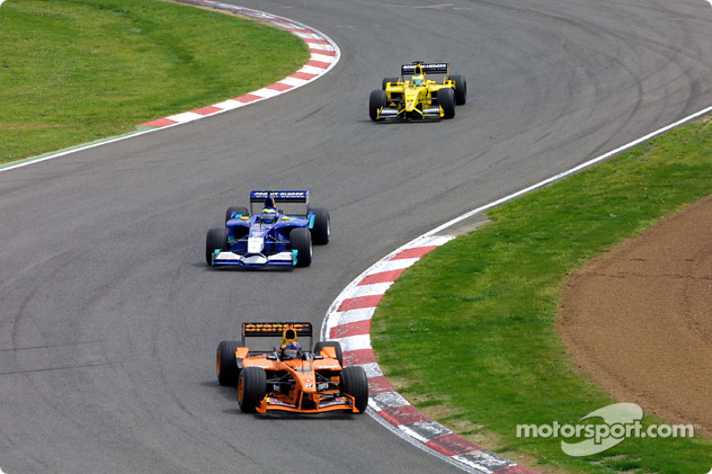 Heinz-Harald Frentzen, Felipe Massa y Giancarlo Fisichella