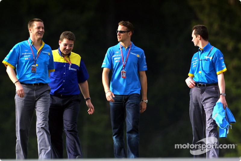 Jenson Button llegando a la pista