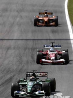 Eddie Irvine and Mika Salo
