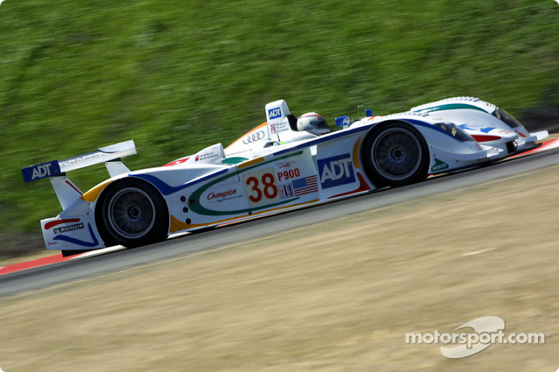 Andy Wallace in the ADT Champion Audi #38