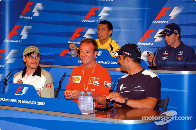 Conferencia de prensa del miércoles: Jacques Villeneuve, Rubens Barrichello y Juan Pablo Montoya al