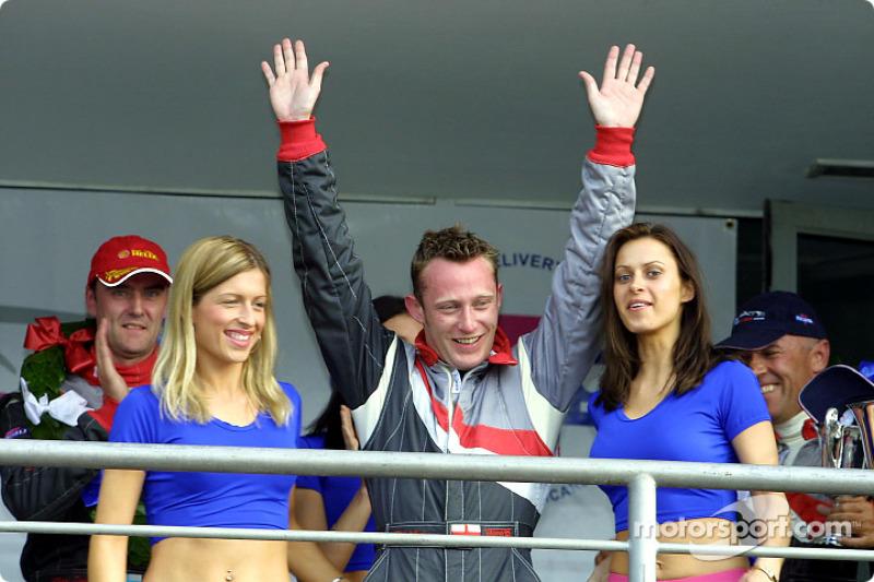 Race winner Phil Andrews