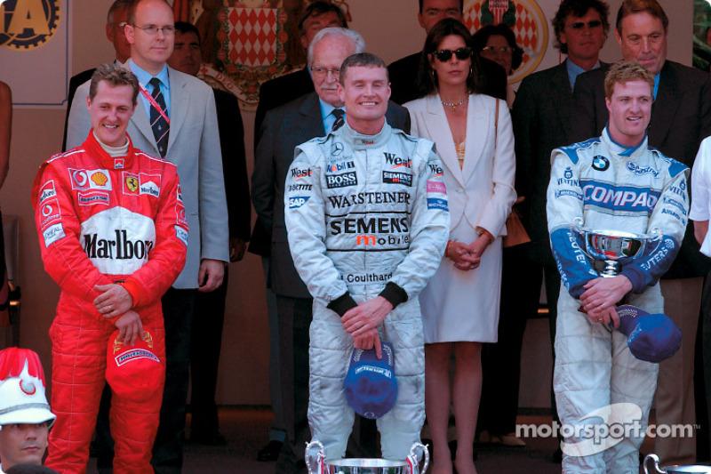 2002: 1. David Coulthard, 2. Michael Schumacher, 3. Ralf Schumacher