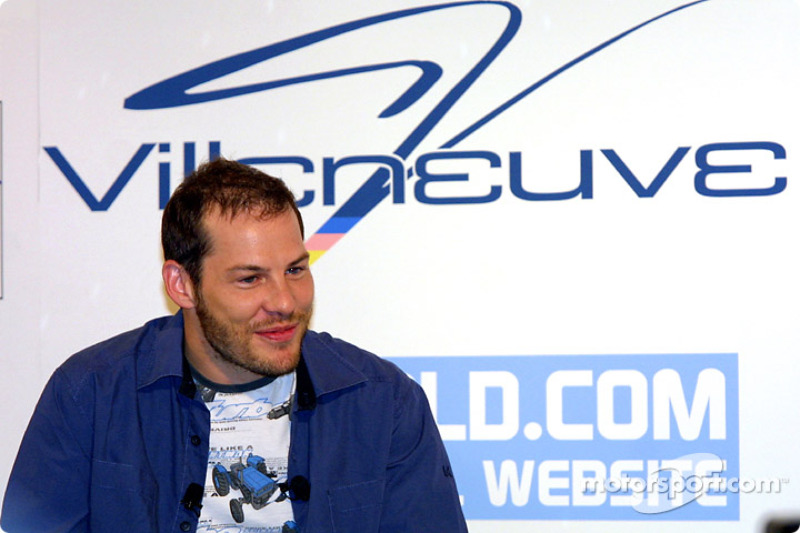 Jacques Villeneuve at his traditional Montreal press conference, held at the Newtown, his restaurant