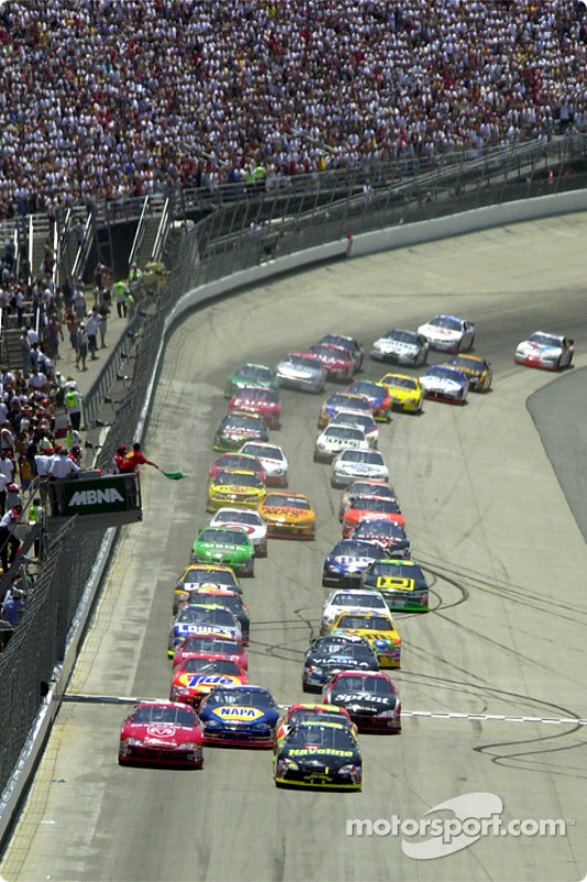 The green flag starts the race