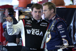 Ryan Newman y Rusty Wallace