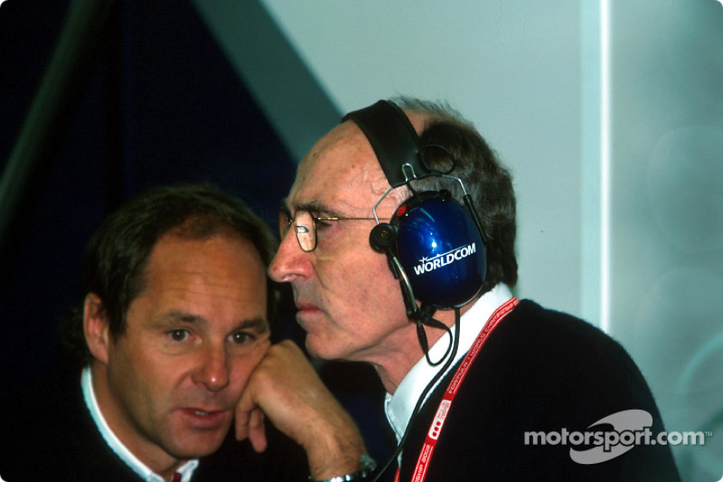 Gerhard Berger and Frank Williams