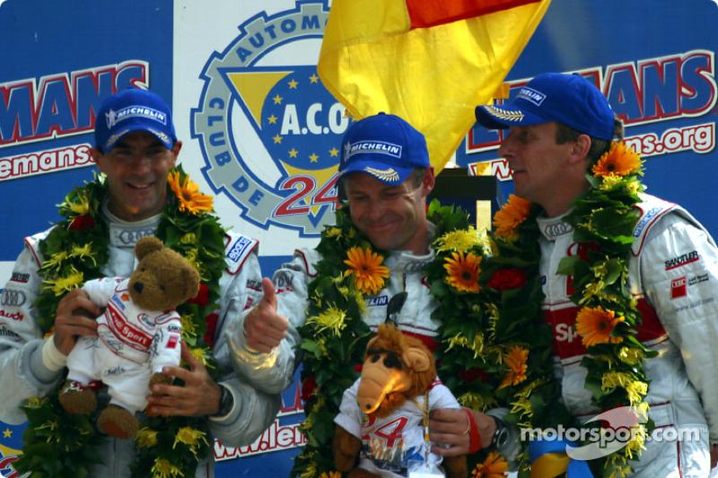 2002: Emanuele Pirro, Tom Kristensen, Frank Biela