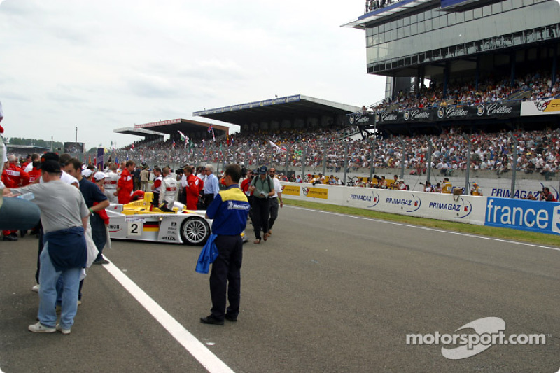 The starting grid before the race