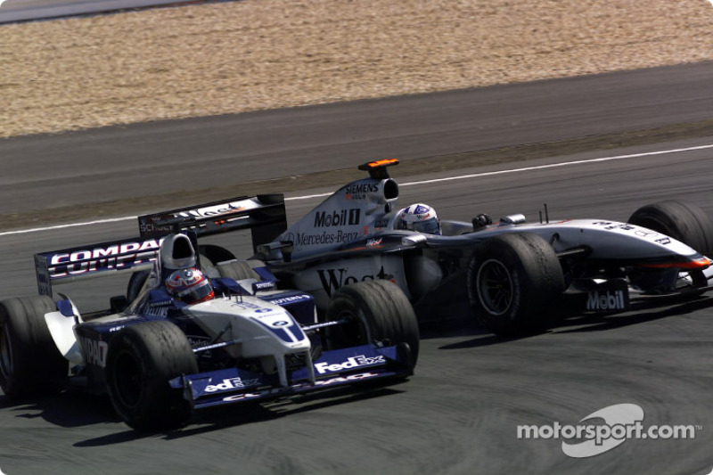El accidente de Juan Pablo Montoya y David Coulthard