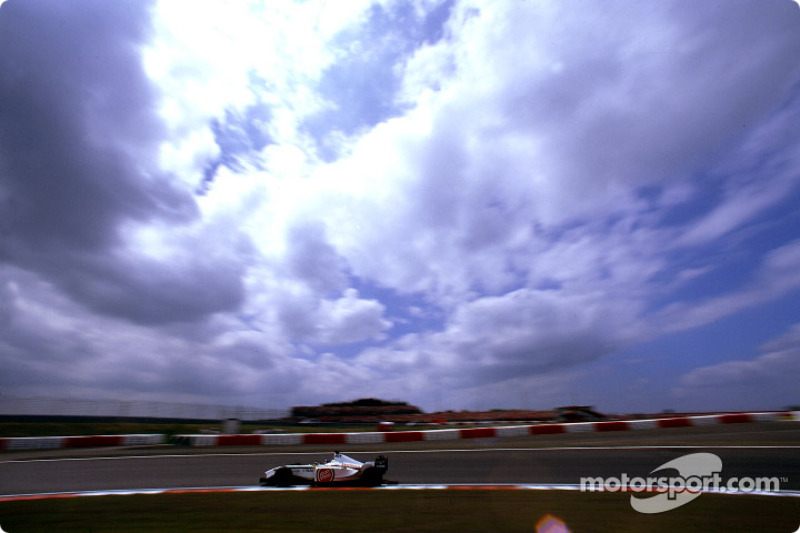 Jacques Villeneuve in the morning warmup