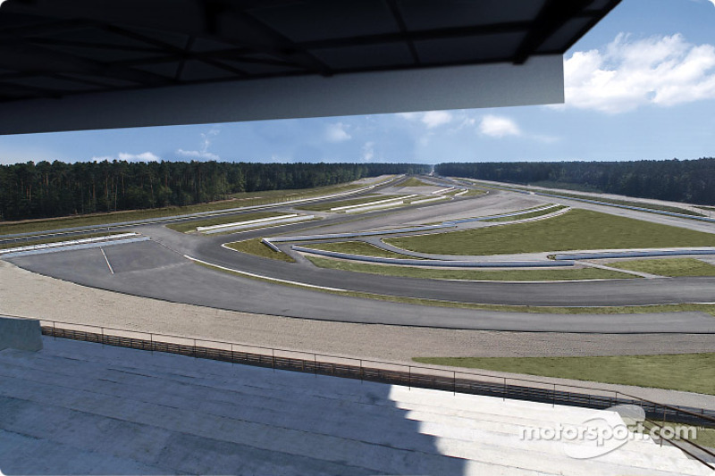 La parte rediseñada del circuito del Gran Premio de Hockenheim