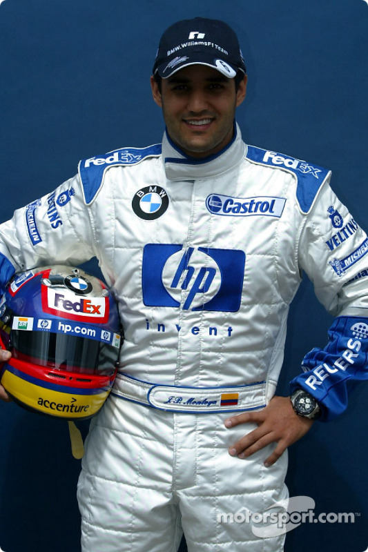 Presentation of the new HP livery on the Williams-BMW: Juan Pablo Montoya