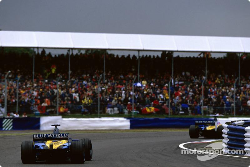 Los dos Renault F1s