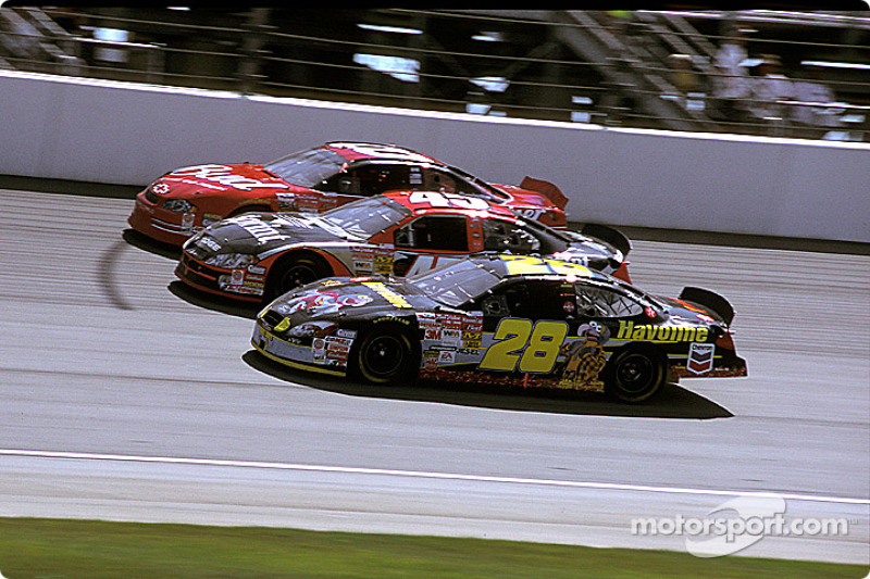 Ricky Rudd, Kyle Petty y Dale Earnhardt Jr.