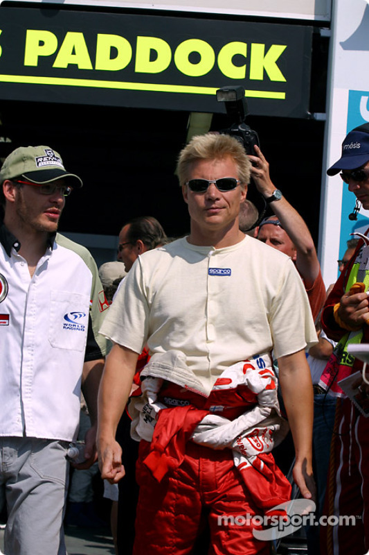 Jacques Villeneuve and Mika Salo
