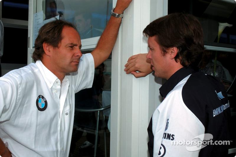 El director de BMW Motorsport, Gerhard Berger con Sam Michael