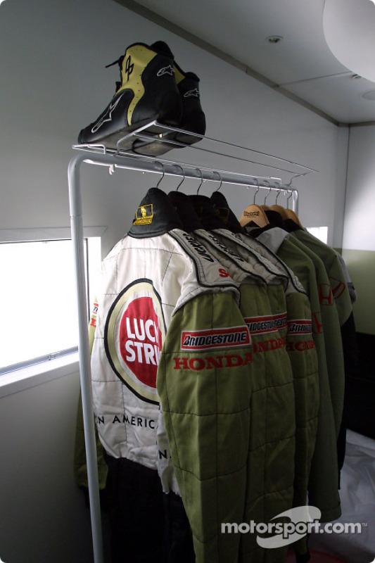 BAR drivers' dressing room