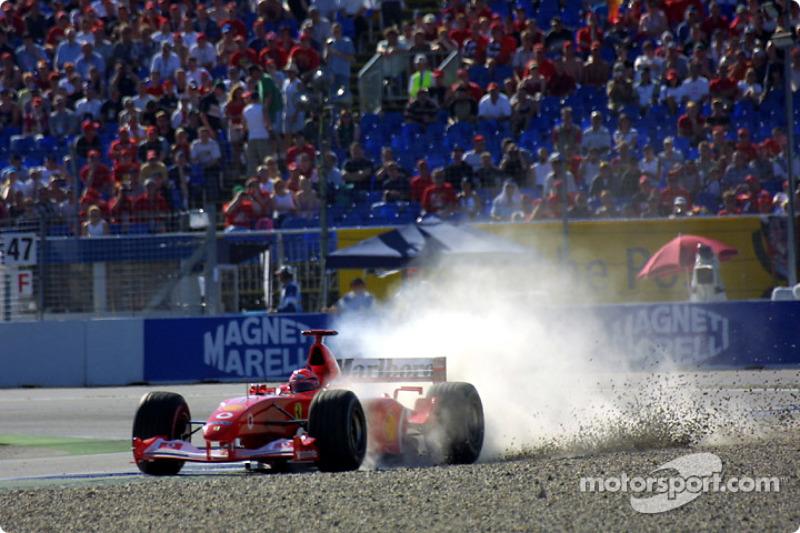 A rare misstep by Michael Schumacher