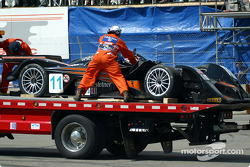 The KnightHawk Racing MG-Lola EX257 on the truck
