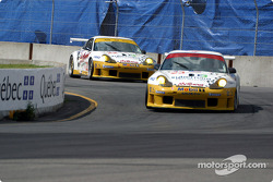 The two Alex Job Racing Porsche 911 GT3-RS