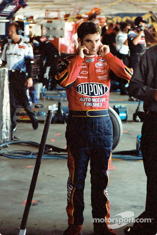 Jeff Gordon en el garage