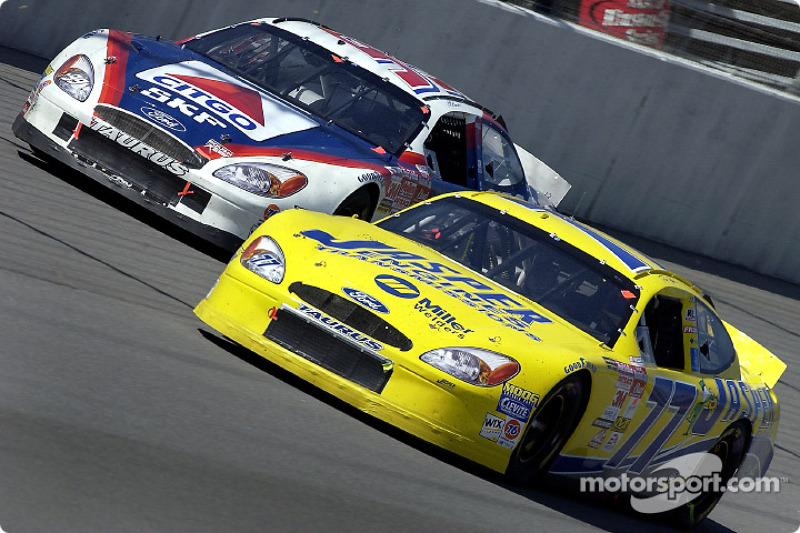 Dave Blaney y Jeff Burton