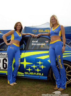 Subaru World Rally Team girls