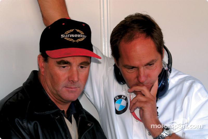 Nigel Mansell and Gerhard Berger