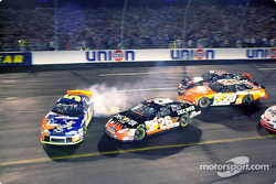Todd Bodine tries to avoid Terry Labonte
