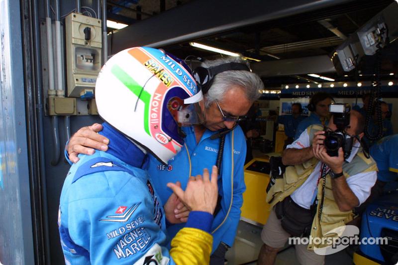 Flavio Briatore et Jarno Trulli