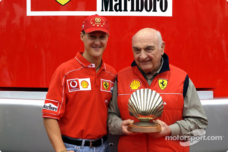 Presentación Shell: Michael Schumacher y Froilán González