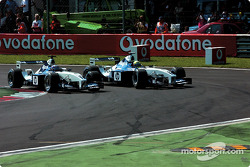 The start: Juan Pablo Montoya and Ralf Schumacher
